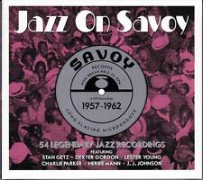 JAZZ ON SAVOY 1957-1962 - 54 LEGENDARY JAZZ RECORDINGS (NEW SEALED 3CD)