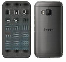 Genuine HTC ONE M9 Dot View FLIP CASE original smartphone book cover onyx black