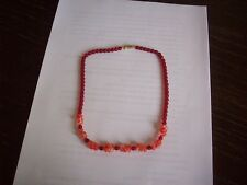 Czech beads red Vintage length 15""""