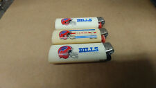 Lot of 3 Vintage Buffalo Bills Lighters