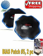 """OTR BIAS Tire Repair Patch #5 OFF ROAD AGRICULTURAL TIRE 6-1/2"""" Bag of 2 Europe"""