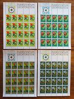 Briefmarken Liechtenstein Bogen Satz 521 - 524 sauber postfrisch MNH Kleinbogen