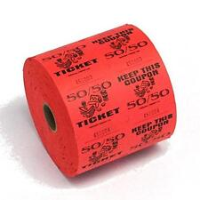 Red 50/50 Raffle Tickets : roll of 1000, New, Free Shipping