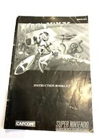 Mega Man X Manual Only Super Nintendo SNES Original Instruction Booklet Book