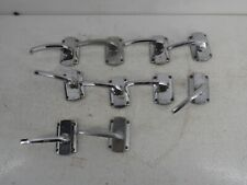More details for 5 pairs of vintage chromed art deco yale lever door handles no spindles g8