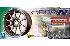 AOSHIMA 1/24 RAYS VOLK RACING CE28N Titanium Silver Wheels #01002 **LAST STOCK**