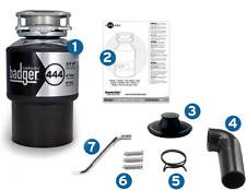 NEW BADGER 444 InSinkErator Garburator, 3/4 HP Strong & Quiet Induction Motor