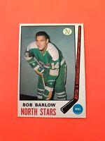 Bob Barlow 1969-70 O-Pee-Chee OPC Hockey Card #196  See Photos for Condition