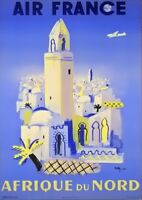 Air FranceAfrikaVintage Travel PosterA1 A2 A3