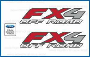 1997 - 2012 Ford Ranger FX4 Off Road Decals - F - stickers truck bed graphics