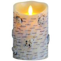 Luminara Flameless Led Candles With Birch effect Real Wax Pillars Dancing Wick