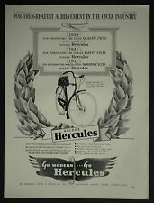Hercules Cycle Bicycle Tourer Model '' T '' 1937 Ad Advertisement 7093