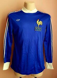 France1978 - 1979 Ultra rare shirt football Adidas long sleeve jersey