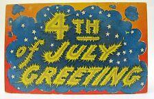1908 4Th Of July Greetings embossed postcard