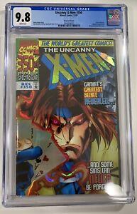 Uncanny X-Men 350 -Prism Foil Cover- **Gambit** CGC 9.8