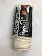 Tranquility 12-Pound Weighted Throw Blanket In Eggnog 00026Tar