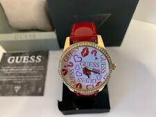 Guess Women's Logo Red Patent Leather Strap Watch U1206L2 NEW IN BOX!!