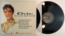 ELVIS PRESLEY – Elvis: La Voz Del Rock 2 LP Set Spain 1992 Unique Cover N.MINT