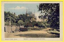 cpa Rare en Couleurs 34 - BÉZIERS (Hérault) Un coin du JARDIN des POÈTES