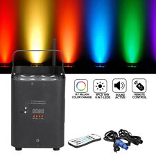 4LED*18W RGBWA+UV battery powered DMX512 DJ Uplighting Par Can Up Light Remote