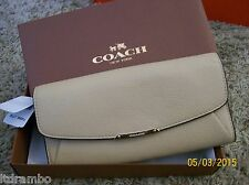 NWT COACH MADISON LEATHER SLIM ENVELOPE WALLET, F49595 TAN- FREE SHIPPING!!!