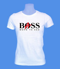 Girlie Damen Shirt Bass Boss Musik move2be XS M L weiß