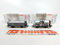 CF94-0,5# 2x Märklin H0/AC Jahreswagen 1995/2001 84870/46037 NEM KK NEUW; OVP
