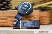 Black Union Jack Leather keychain For MINI Cooper S F54 F55 F56 F57 F60 JCW