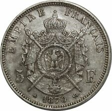 O883 5 Francs Napoléon III 1868 A Paris Argent Silver >Make offer