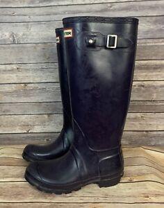 Hunter Tall Purple Rain Boots (Size: 6)