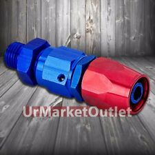 Red/Blue Straight Swivel Oil/Fuel/Fluid Line Hose End 8AN T2 Fitting Adapter