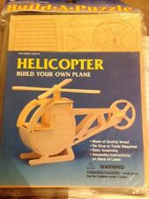 New Wooden 3D Puzzle Helicopter Build-A-Plane Requires No Glue Or Tools