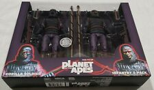 """Planet of the Apes 7"""" Figures Neca - Gorilla Soldiers Toys R Us - 2-Pack Sealed"""