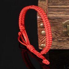 2pcs Women Men Weaving Braided Red String Lucky Chinese King Kong Knot Bracelet