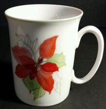 BLOCK SPAL Poinsettia Cup by Mary Lou Goertzen Xmas Watercolors Mug PORTUGAL