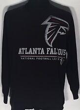 Atlanta Falcons ATL NFL Football Team Logo Size XL Black Long Sleeve T-shirt