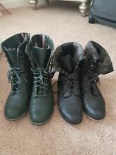 2 PAIRS AMERICAN RAG & MADDEN GIRL COMBAT BOOTS SIZE 7