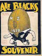 ALL BLACKS to SOUTH AFRICA 1928 RUGBY BOOKLET