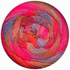 Lang Yarns ::Mille Color Sock & Lace #61:: yarn Fuchsia-Sky-Nut-Orange
