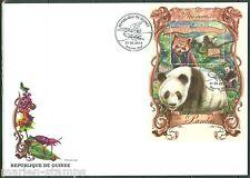 GUINEA  2013 THE ANIMALS  PANDAS  SOUVENIR SHEET FIRST DAY COVER