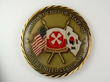 Challenge Coin Excel Assistant Chief of Staff G2 Eighth US Army Pacific Victors