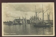 Sweden STOCKHOLM Nybroviken sailing boats 1928 RP PPC