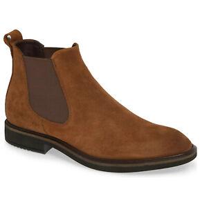 ECCO Vitrus II Men's Suede Chelsea Boots in Bison Brown Size 44, US 10 - 10.5
