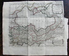 CARTE L'ASIE mineure et le bosphore pour l'histoire ancienne de Rollin,1740