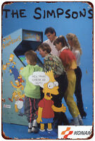The Simpsons Arcade Game Konami Retro Metal Sign 8 x 12