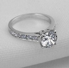 2 CT Diamante Anillo pavimentado Chanel cualquier tamaño acabado platino nunca deslustre