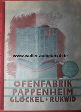 Ofenfabrik Pappenheim Glöckel & Rukwid Katalog um 1952 Ofen Kachelofen Öfen...