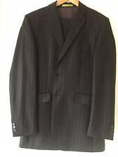 Mens Grey Striped Suit 42 L