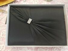 "Black Sash Guest Book 8.5"" By Lillian Rose, Wedding Accessories,  Bridal"