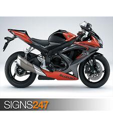 SUZUKI GSX R750 (1592) Motorbike Poster - Photo Poster Print Art A0 A1 A2 A3 A4